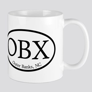 OBX Outer Banks, NC Oval Mug